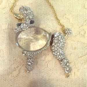 Alexis Bittar Giant Poodle Necklace